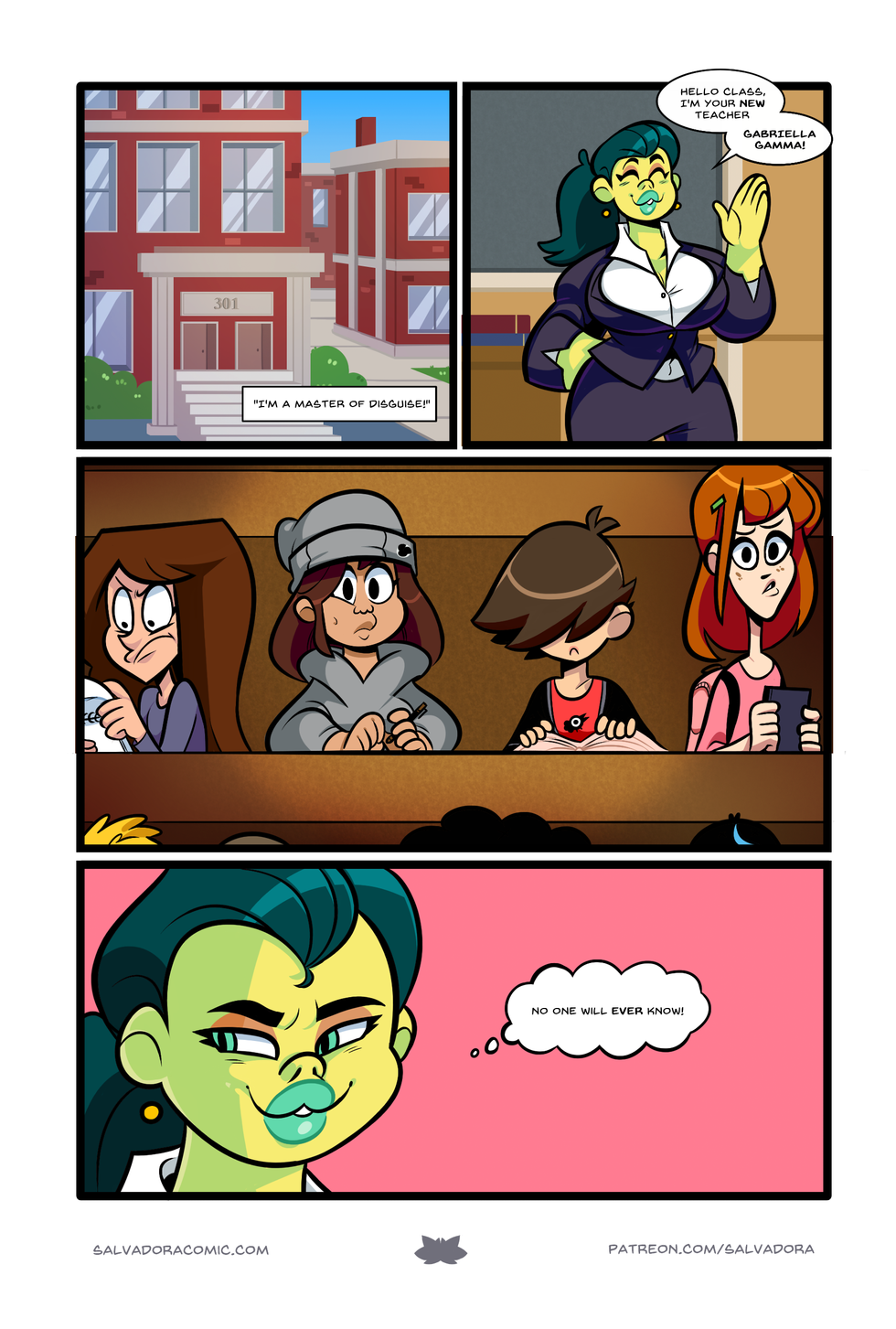 Would Gamma Cutie wear her hair in a ponytail? Of course not!