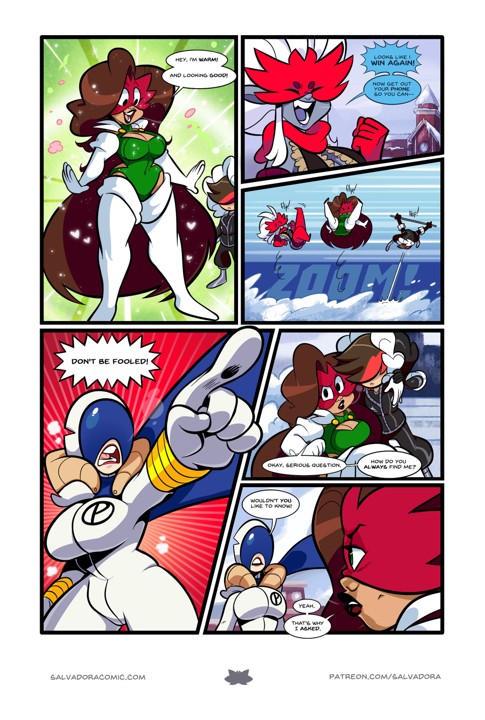 Without that ventilation hole in the upper chest, Salvadora's winter costume would be too hot, you see. It's practical!
