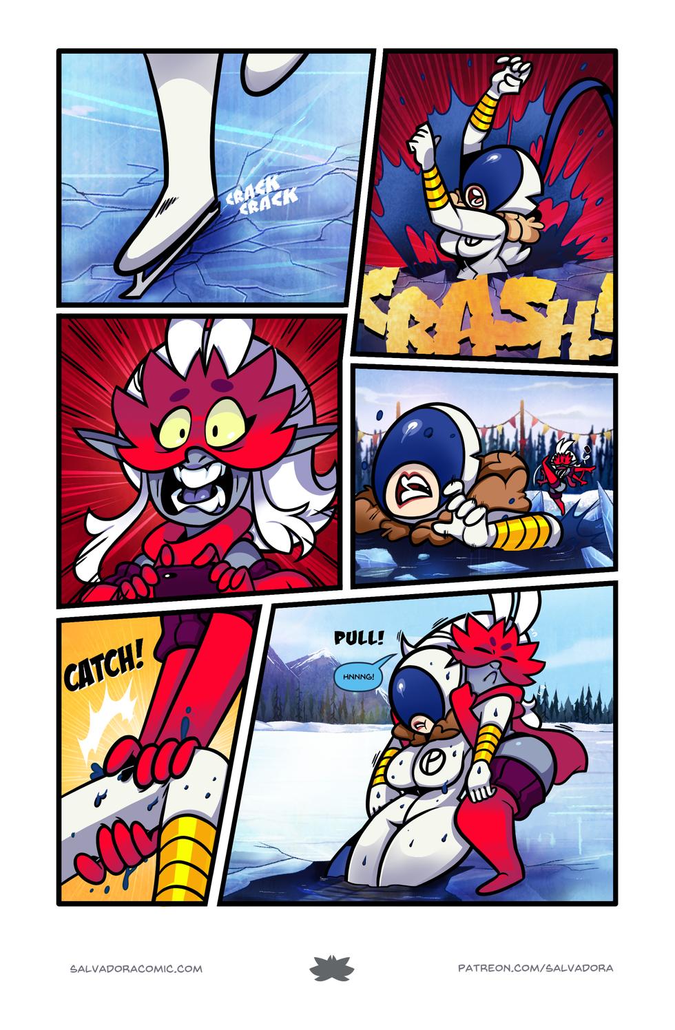 The perils of super-speed on ice skates.